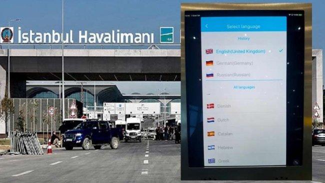 36 dil, 80 lehçe olan havalimanında Kürtçe'ye yer yok
