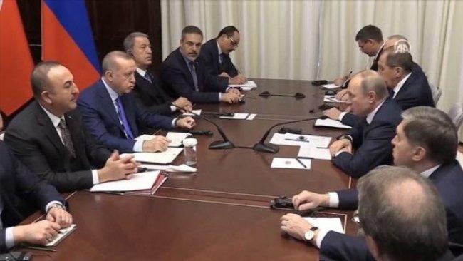 Putin ve Erdoğan Berlin'de görüştü