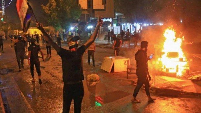 Irak'ta gösteriler sürüyor! Bazı vilayetlerde resmi tatil ilan edildi