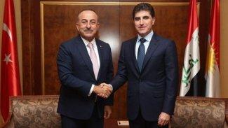 Başkan Neçirvan Barzani, Mevlüt Çavuşoğlu'yla görüştü