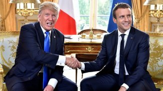 Macron ve Trump anlaştı: Yaptırım tehditleri askıda