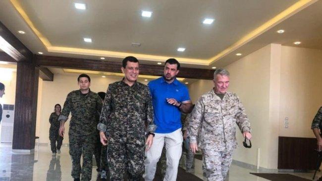 CENTCOM Komutanı ve Mazlum Abdi Rojava'yı görüştü