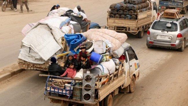 İdlib'den göç edenler Afrin'e yerleştiriliyor!