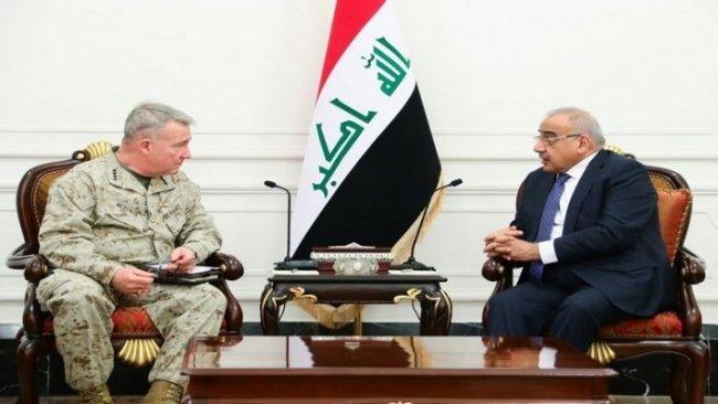Abdulmehdi, CENTCOM Komutanı ile Irak'ı görüştü