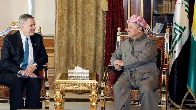 Başkan Barzani, ABD Büyükelçisi'yle Rojava'yı görüştü