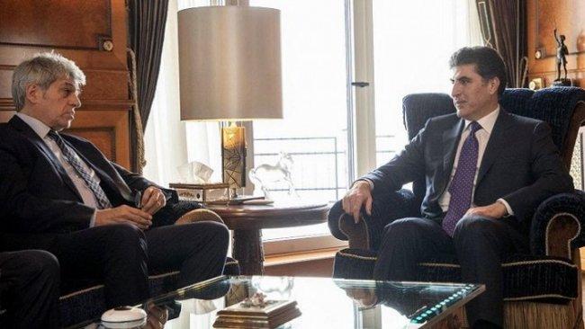 Başkan Neçirvan Barzani, Fransa Büyükelçisi Bruno Aubert ile görüştü