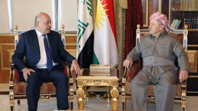Başkan Mesud Barzani Berhem Salih'i kabul etti