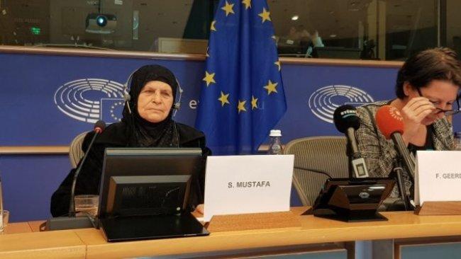 Kürt siyasetçi Hevrin Halef'in annesi AP'de konuştu: Tüm kadınlara sesleniyorum...