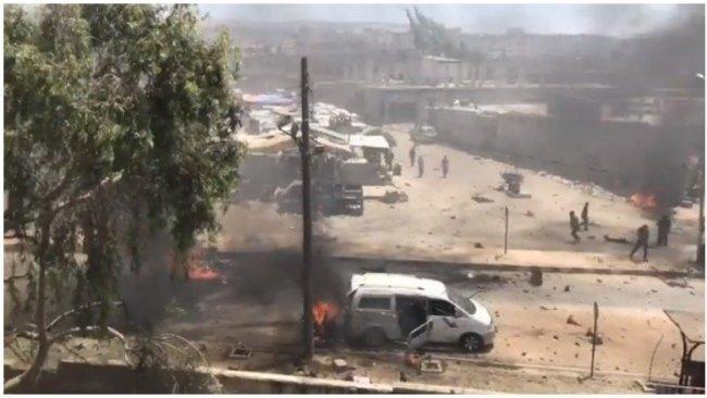 Afrin'de bomba yüklü bir otomobil patladı