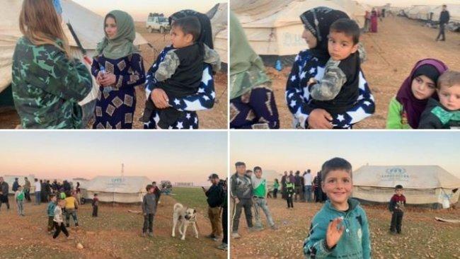 DSG, İdlib'den Menbiç'e sığınan sivillerin görüntülerini paylaştı