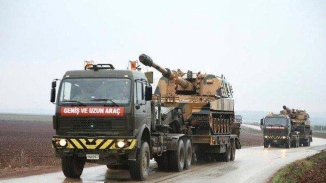 TSK'dan İdlib'e obüs ve mühimmat sevkiyatı
