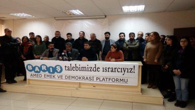 Amed Emek ve Demokrasi Platformu: Çözüm süreci tekrar başlatılsın