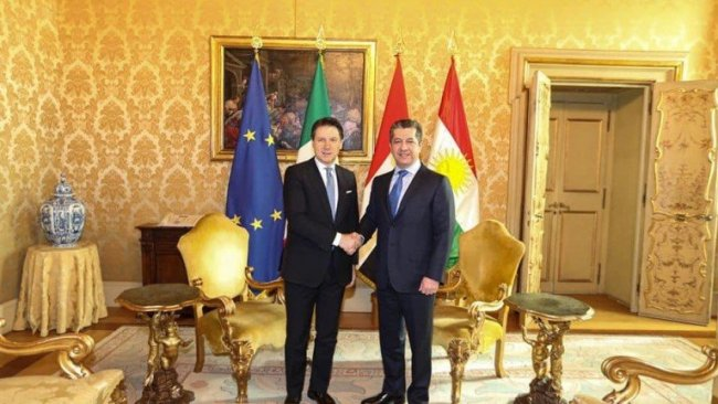 Başbakan Barzani, İtalya Başbakanı Conte ile bir araya geldi