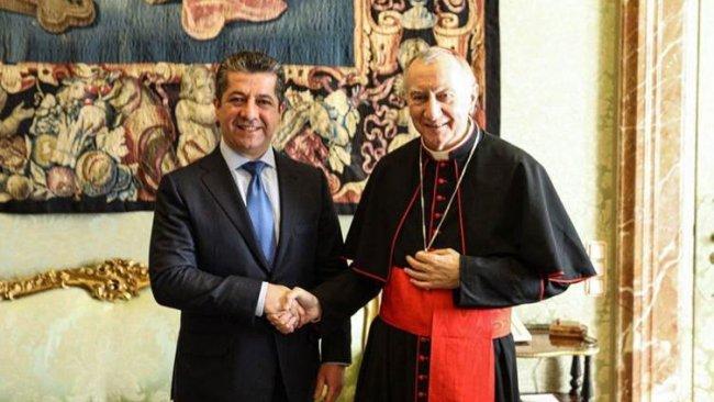 Başbakan Barzani Vatikan Başbakanı Parolin ile bir araya geldi