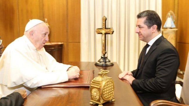 Başbakan Barzani, Papa Francis'i Kürdistan'a davet etti
