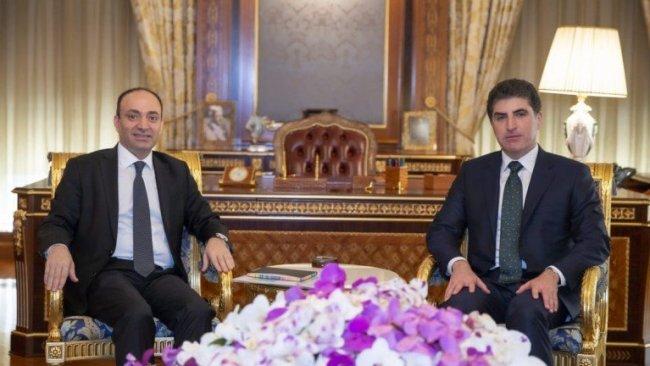 Başkan Neçirvan Barzani, Osman Baydemir'i kabul etti
