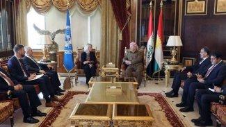Başkan Barzani, BM'nin Irak Özel Temsilcisi ile bir araya geldi