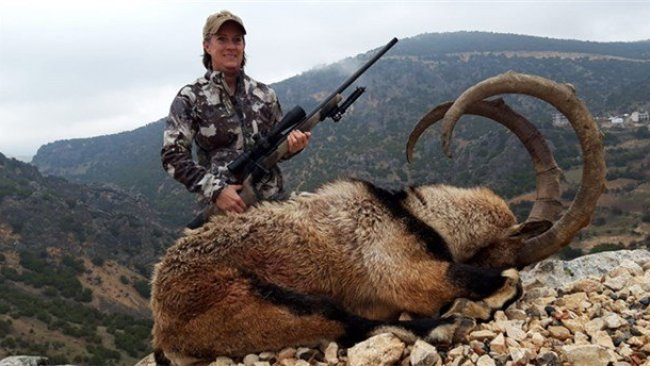 ABD'den Adıyaman'a gelen kadın ender dağ keçisini öldürdü