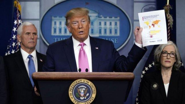 Trump'tan koronavirüs açıklaması