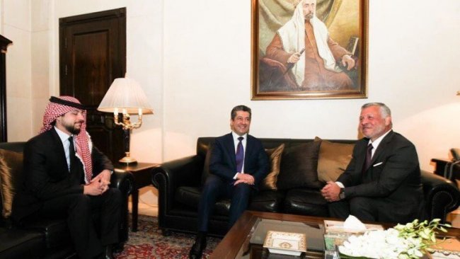 Başbakan Barzani, Ürdün Kralı II. Abdullah'la görüştü