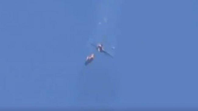 İdlib'te iki savaş uçağı düşürüldü