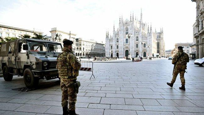 Koronavirüs nedeniyle İtalya geneli 'kırmızı bölge' ilan edildi
