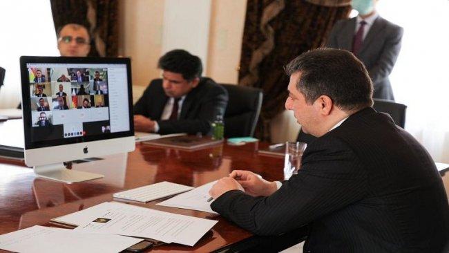 Başkent Erbil'de Koronavirüsle mücadele toplantısı