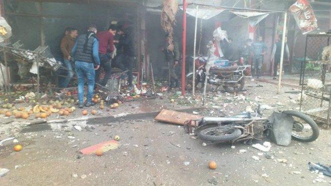 Afrin kent merkezinde art arda patlamalar