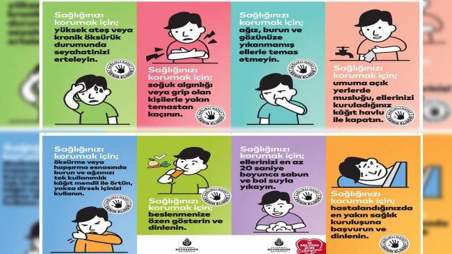 İBB, koronavirüs için Kürtçe afiş ve anons hazırladı