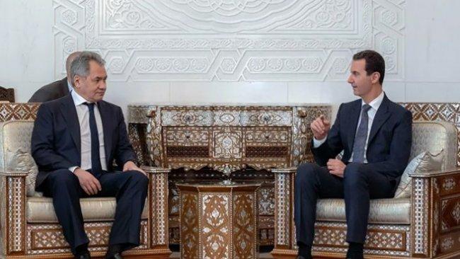 Rusya Savunma Bakanı Şoygu, Suriye'de Esad'la görüştü