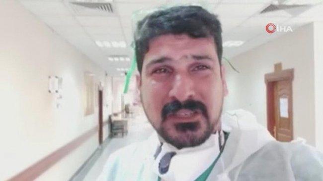 Iraklı doktor ağlayarak 'evde kalın' çağrısı yaptı