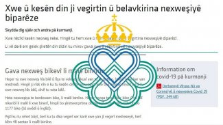 İsveç'te Kürtçe Koronavirüsten koruma rehberi