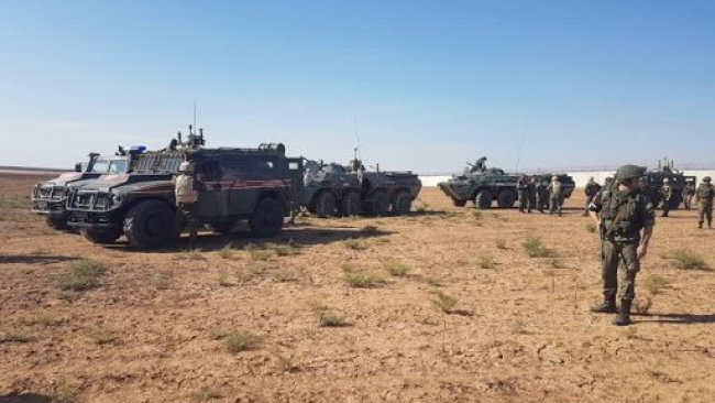 Haseke'de Rus-Türk ortak devriyesi