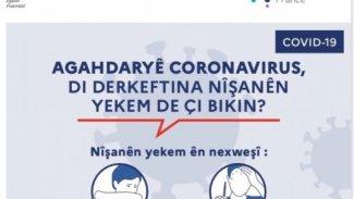 Fransa hükümetinden koronavirüs önlemleri için Kürtçe mesaj