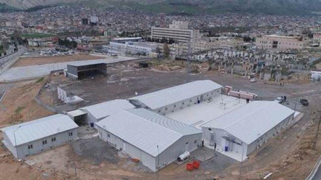 Duhok'ta 7 günde hastane inşa edildi
