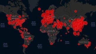 Dünya genelinde koronavirüs Vaka sayıları 1000'den fazla olan ülkeler