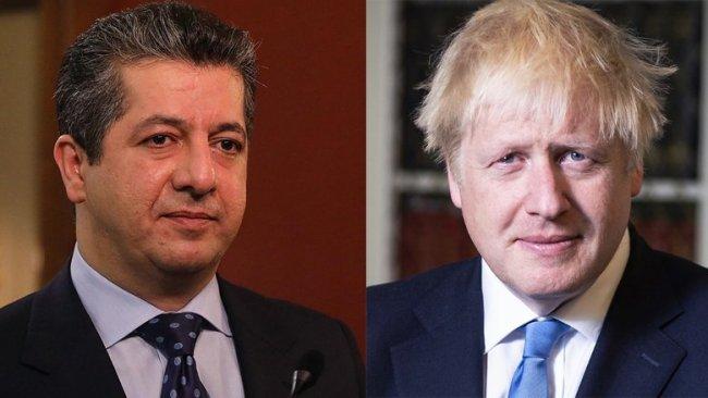 Başbakan Barzani'den Boris Johnson'a mesaj