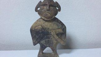 Elazığ'da 'Hitit' dönemine ait heykel ele geçirildi