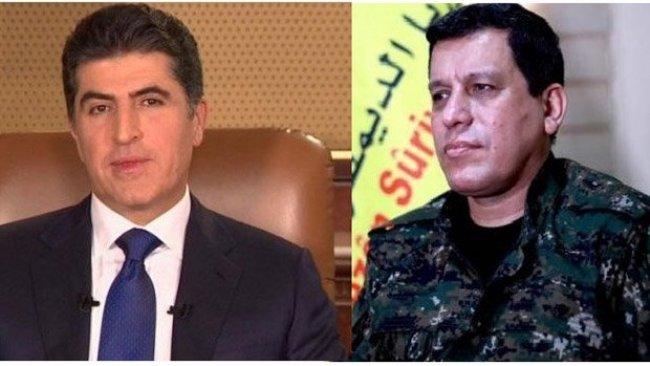 Mazlum Abdi'den Neçirvan Barzani'ye teşekkür