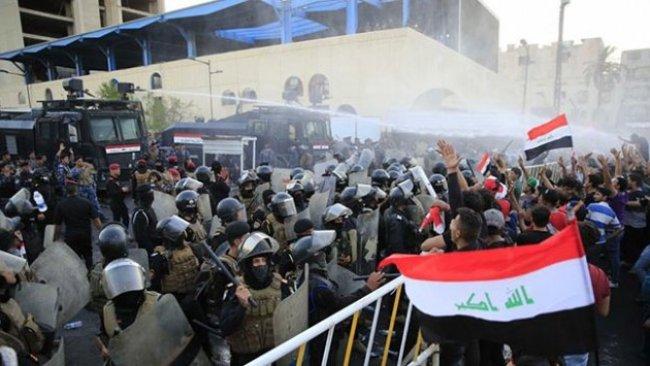Irak'ta güvenlik güçleriyle göstericiler arasında çatışma: Yaralılar var