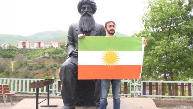Dersim'de Kürdistan Bayrağı'yla anma
