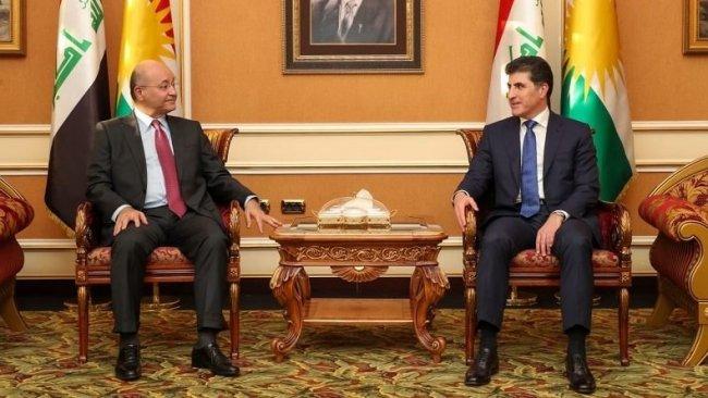 Başkan Neçirvan Barzani ile Berhem Salih bir araya geldi