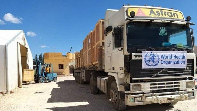 Kamışlo'ya 30 tonluk tıbbi yardım