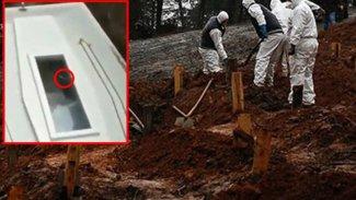 Dehşete düşüren görüntüler: Koronavirüsten ölen adamın cansız bedeni tabutta hareket etti