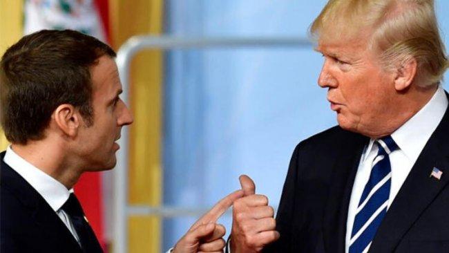 Trump ile Macron, Libya'yı görüştü