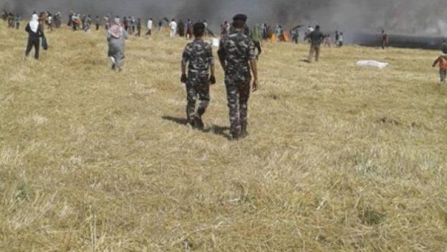 Rojava'da ekinler ateşe verildi