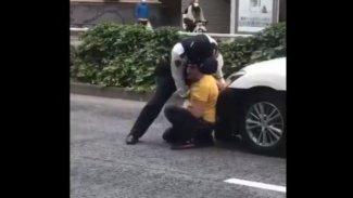 Tokyo'da Kürt vatandaşa yönelik polis şiddeti protesto edildi