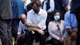 Trudeau, George Floyd'un ölümünü diz çökerek protesto etti