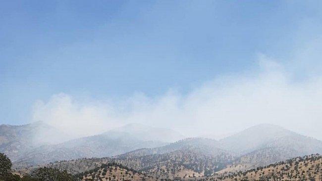 TSK'nin Bradost bölgesine top atışları nedeniyle yangın çıktı