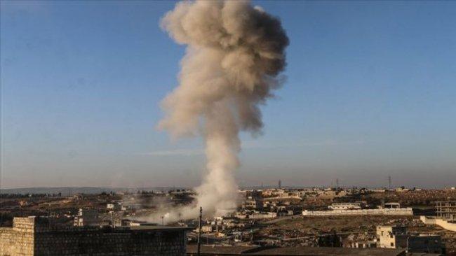 İdlib'e yoğun bombardıman